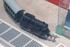 DB train toy models in Leipzig Stock Photo