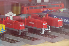 DB train toy models in Leipzig Stock Photography