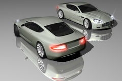DB9 model Royalty Free Stock Photos