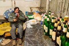 Dba dla bezdomny w Ukraina i biedy Fotografia Stock