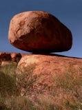 dbalancing的恶魔使np岩石s有大理石花纹 图库摄影
