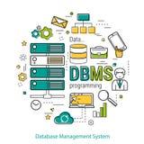 DBMS - linje konstbegrepp Royaltyfri Fotografi