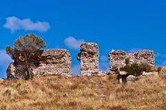 Débris de la vieille forteresse. Image libre de droits