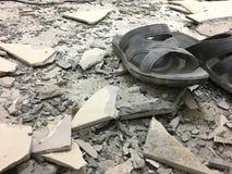 Débris de zone de guerre Images libres de droits
