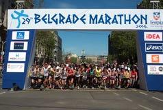 Début de marathon Photos stock