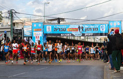 Début de marathon de Tiberius Photographie stock libre de droits