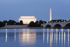 dc夜间视图华盛顿 免版税库存图片
