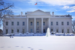 dc房子雪华盛顿白色 免版税库存照片