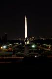dc晚上华盛顿 库存照片