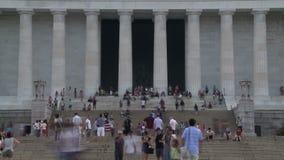 dc林肯纪念品华盛顿 股票录像