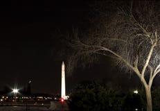 dc点燃纪念碑华盛顿 库存图片