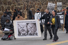 DC的反王牌抗议者3月 库存图片