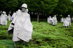 dc韩文纪念战争华盛顿 库存图片