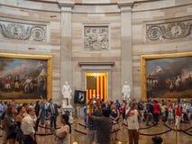 DC Вашингтона, округ Колумбия [интерьер капитолия Соединенных Штатов, федеральный округ, туристский центр для посетителей, ротонд стоковое фото