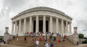DC Вашингтона, округ Колумбия [Соединенные Штаты мемориал США, Линкольна над бассейном отражения, внутренний и внешний, стоковое фото rf