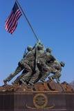 DC ВАШИНГТОНА, †«21-ое марта 2015 США: Военный мемориал морской пехот на заходе солнца 21-ого марта 2015 в DC Вашингтона Стоковая Фотография RF