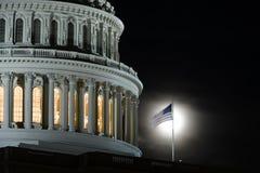 DC Вашингтона, здание капитолия на ноче Стоковые Фотографии RF