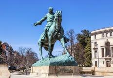 DC Вашингтона круга Sheridan статуи генерала Phil Sheridan Стоковые Изображения RF