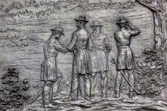 DC Вашингтона мемориала гражданской войны генерала Шермана Bas Стоковые Изображения RF