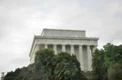 DC Вашингтона, 5-ое августа: Здание Линкольна мемориальное от округа Колумбия Вашингтона Стоковые Изображения RF