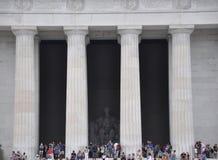 DC Вашингтона, 5-ое августа: Здание Линкольна мемориальное от округа Колумбия Вашингтона Стоковые Изображения