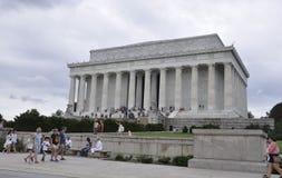 DC Вашингтона, 5-ое августа: Здание Линкольна мемориальное от округа Колумбия Вашингтона Стоковая Фотография