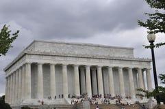 DC Вашингтона, 5-ое августа: Здание Линкольна мемориальное от округа Колумбия Вашингтона Стоковые Фотографии RF