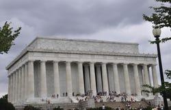 DC Вашингтона, 5-ое августа: Здание Линкольна мемориальное от округа Колумбия Вашингтона Стоковые Фото