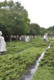 DC Вашингтона, 5-ое августа: Мемориал Корейской войны от округа Колумбия Вашингтона Стоковые Фотографии RF