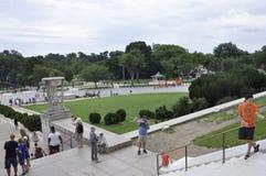 DC Вашингтона, 5-ое августа: Эспланада Линкольна мемориальная от округа Колумбия Вашингтона Стоковое Изображение