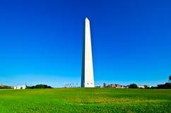 DC Вашингтона, памятник Вашингтона на ясном небе Стоковое фото RF