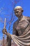 DC Вашингтона строки посольства посольства статуи Ганди индийский Стоковая Фотография