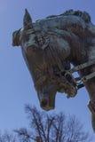 DC Вашингтона строки посольства статуи генерала Phil Sheridan Стоковые Изображения