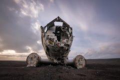DC 3平面击毁在冰岛 库存图片