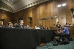DC :麦克蓬佩奥国务卿确认听证会 库存照片