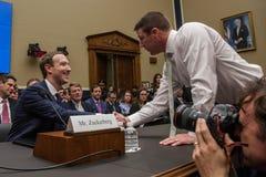 DC :FACEBOOK CEO马克・扎克伯格在美国国会前面作证 库存照片