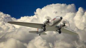 DC-3 au-dessus de NYC Images libres de droits