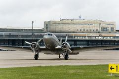 Dc 3 in berlin. Tempelhof Royalty Free Stock Image