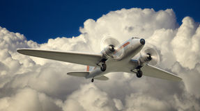 DC-3 Over NYC Royalty Free Stock Images