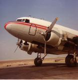 DC-3 on the ramp. DC-3 sitting on the ramp awaiting loading Royalty Free Stock Photo