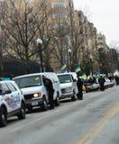 在乌克兰的DC警察抗议 免版税图库摄影