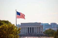 DC Авраама Линкольна мемориальный строя Вашингтона Стоковые Фотографии RF