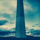Голубые влияния фильтра на памятнике Вашингтона, Вашингтоне, DC Стоковое Изображение