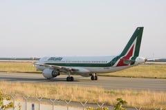 Dc9 Alitalia airplane during landing Royalty Free Stock Images