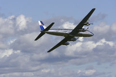 DC-6B. From Rygge Airshow in Norway 2009 royalty free stock images