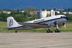 DC-3 Btreitling 免版税库存图片