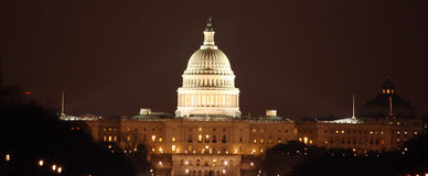 DC Capital at Night Stock Photo