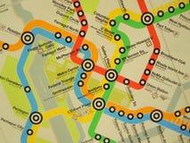 Map of metro routes  Royalty Free Stock Photo