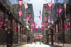 DC centrum miasta alei zasięrzutna dekoracja świętować Czereśniowego okwitnięcia kani festiwal Fotografia Royalty Free