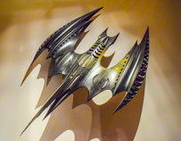 DC character batman decorations Batman sets celebrity, character Batman, light batman, Batman plane, costume Batman, Batman bik. USA, California. Los Angeles Royalty Free Stock Image